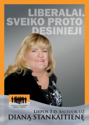 Liberalė Diana Stankaitienė rungsis dėl Seimo nario mandato Klaipėdoje