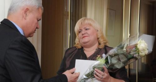 Meras pasveikino liberalę  Dianą Stankaitienę