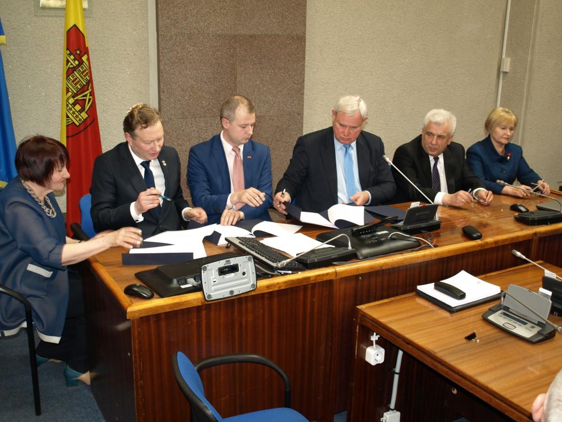 Pasirašyta naujosios kadencijos Tarybos koalicijos sutartis