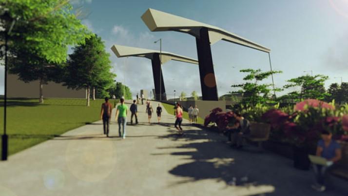 Bastionų tiltas bus kaip Olandijoje