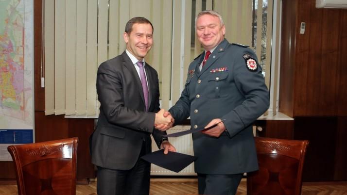 Klaipėdos miesto investicija į miestiečių saugumą įtvirtinta sutartimi