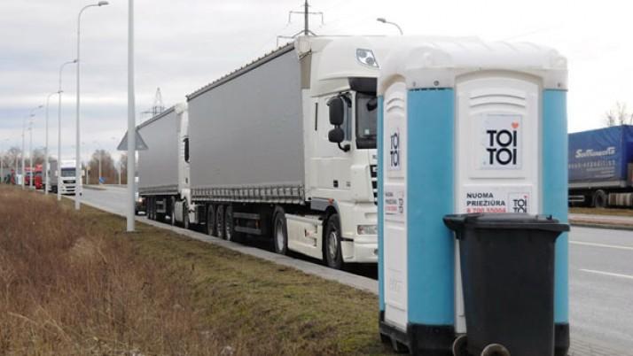 Situacija dėl Rusijos vežėjų vilkikų eilės uoste suvaldyta