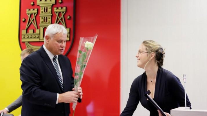 Prisiekė nauja Klaipėdos tarybos narė