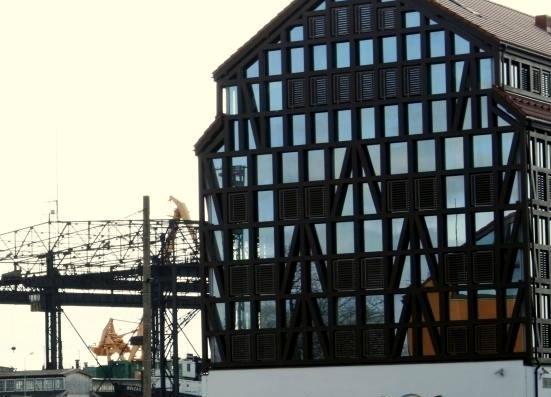 Bus tvarkomas fachverkinės architektūros pastatų kompleksas