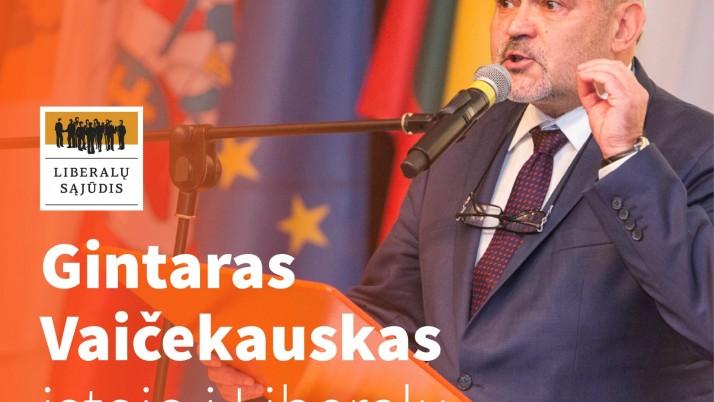 LR Seimo narys Gintaras Vaičekauskas įstojo į LRLS
